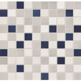 "ABK Aqua Grey Srs Mosaic Mix Tile 1"" x 1"" AQ210"