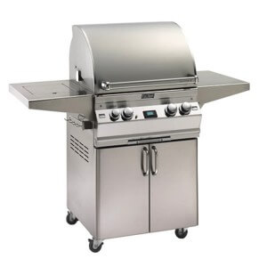"FireMagic Aurora 24"" x 22"" LP Grill W/ Single Side Burner & Rotisserie Burner & Light"