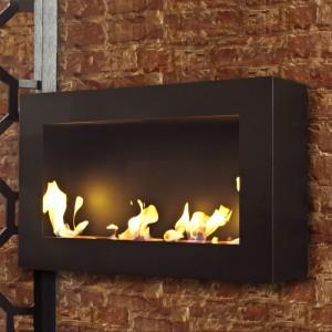 Brasa Bensen XL 31' x 20' Bioethanol Wall Mount Fireplace