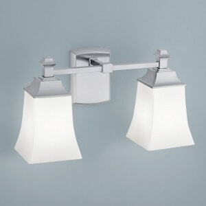 Norwell Lighting Sapphire 2 Light Sconce With Shiny Opal Glass