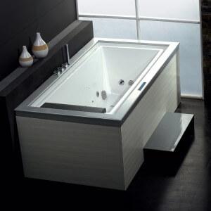 Ariel Platinum 75'' x 40'' Whirlpool Bathtub