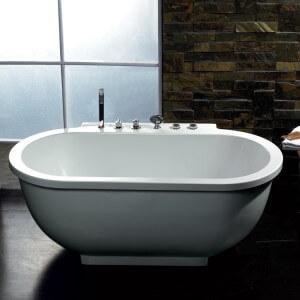 Ariel Platinum 71'' x 38'' Whirlpool Bathtub