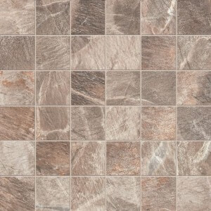 "ABK Fossil Srs Brown 2"" x 2"" Matte Mosaic Tile"
