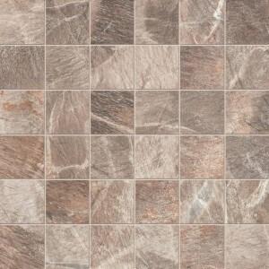"ABK Fossil Srs Brown 2"" x 2"" Matte Mosaic Tile"