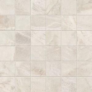"ABK Fossil Srs Cream 2"" x 2"" Matte Mosaic Tile"