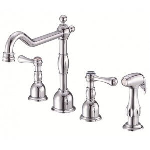 Danze Opulence Two Handle Kitchen Faucet with Spray