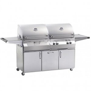 FireMagic Aurora Gas / Charcoal Combo Grill W/ Cart