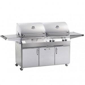FireMagic Aurora Gas / Charcoal Combo Grill W/ Cart