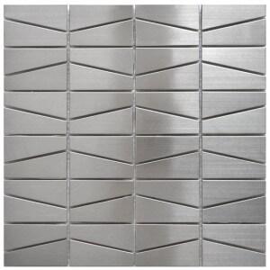 Eden Mosaic Modern Trapezoid Stainless Steel
