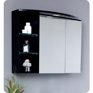 Fresca 32'' x 24'' Wenge Wood Finish Bathroom Medicine Cabinet