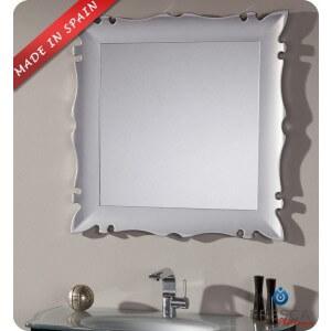 "Fresca Platinum Versalles 32"" Bathroom Mirror - Silver Gloss"