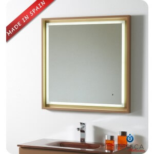 "Fresca Platinum Napoli 32"" Bathroom Mirror"