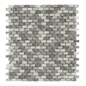 Soho Studio Gem Pearl Series Gem Pearl Reef 3/8' x 5/8' Brick Pattern Mosaic
