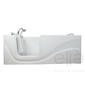 Ella Gel Coat 30″ x 60″ Lay Down Hydro Massage Walk In Bathtub