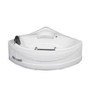 """Aston Global 59"""" x 59"""" Corner Whirlpool Bath Tub in White"""