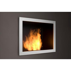 "Planika 27"" x 22"" Onyx Plus Recessed Ethanol Fireplace"