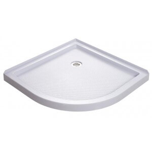 "DreamLine 38"" x 38"" Quarter Round Shower Base Corner Drain"