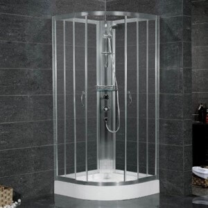 "Aston Global 38"" x 38"" Shower Cabinet in Chrome Finish"