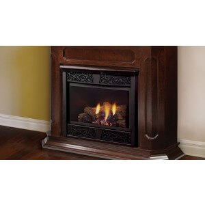 "Monessen 53'' x 44"" Chesapeake Vent Free LP Fireplace W/ Unfinished Wall Cabinet"